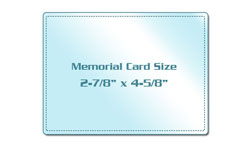 Memorial Card Size Laminating Pouches