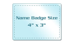 Name Badge Size Laminating Pouches
