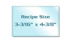 Recipe Card Size Laminating Pouches