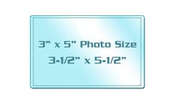 "3"" x 5"" Photo Size Sticky Back Laminating Pouches"
