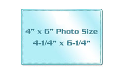 "4"" x 6"" Photo Size Sticky Back Laminating Pouches"