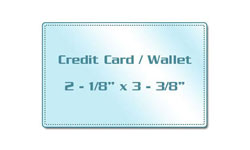 Credit Card Size Sticky Back Laminating Pouches