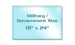 Military / Government Size Sticky Back Laminating Pouches