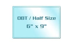 OBT / Half Size Sticky Back Laminating Pouches