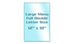 Menu Size Colored Back Laminating Pouches
