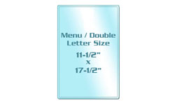 Menu Size Sticky Back Laminating Pouches