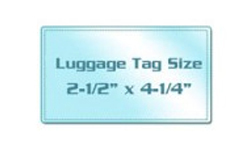 Luggage Tag Size Cold Laminating Pouches