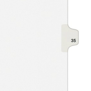 Avery 35 Individual Number Legal Index Style Dividers 25pk (AVE-01035) - $1.89 Image 1