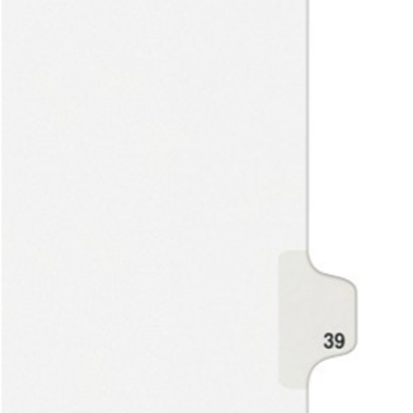 Avery 39 Individual Number Legal Index Style Dividers 25pk (AVE-01039) - $1.89 Image 1