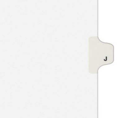 Avery J Individual Legal Index Style Dividers (AVE-01410) Image 1