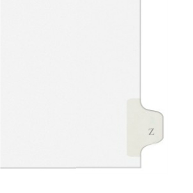 Avery Z Individual Legal Index Style Dividers (AVE-01426) - $2.75 Image 1