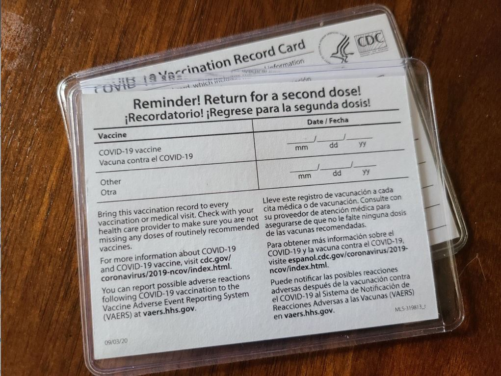 Vaccination Card Holder- FREE With Any Order - Just Add to Cart (09R1001887PK -1) Image 1