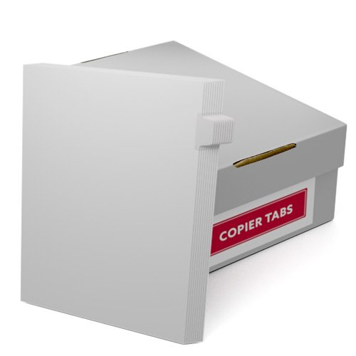 Uncollated 1/10th Cut 90lb Mylar Coated Copier Tabs - Pos 2 (XT10POS2), Index Tabs Image 1
