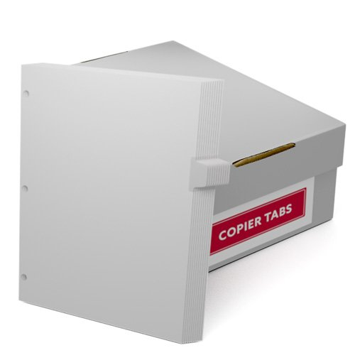 Uncollated 1/11th Cut 110lb Mylar Coated Copier Tabs 3 Holes - Pos 4 (XT11011POS43HP) Image 1