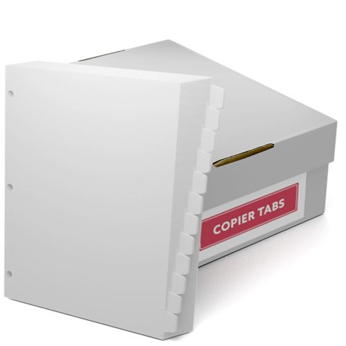 Double Reverse 1/12th Cut 110lb Plain Paper Copier Tabs 3 Hole (B11012DR3HP) - $161.19 Image 1