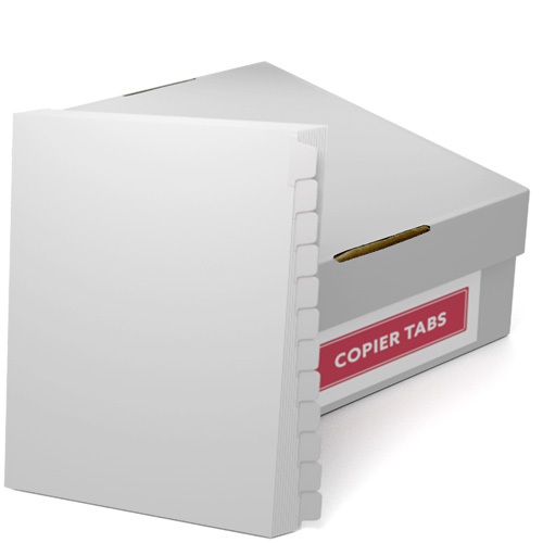 Straight Collated 1/12th Cut 110lb Mylar Coated Copier Tabs (XT11012RC) - $182.69 Image 1