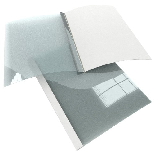 Satin White Linen Thermal Binding Utility Covers (MYLTBUCSWH), Binding Supplies Image 1