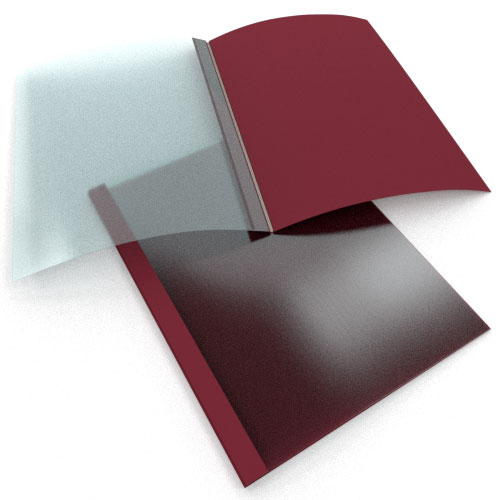 """1/16"""" Maroon Linen Thermal Binding Utility Covers - 25pk (MY116MR) Image 1"""