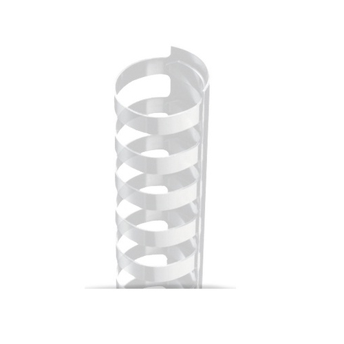 "1/2"" Clear Plastic 24 Ring Legal Binding Combs - 100pk (TC120LEGALCL), Binding Supplies Image 1"