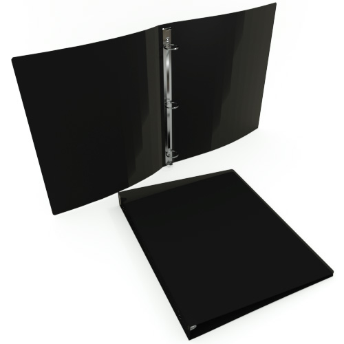 Gauge Black Poly Round Ring Binders Image 1