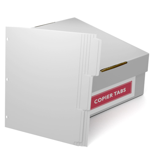 Double Reverse 1/3rd Cut 110lb Plain Paper Copier Tabs 3 Hole (B1103DR3HP) - $161.19 Image 1