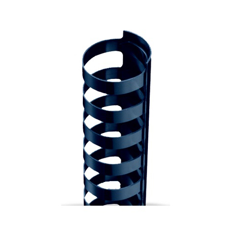 "3/8"" A4 Size Navy Plastic Binding Combs 21 Rings - 100pk (TC380A4NV) Image 1"