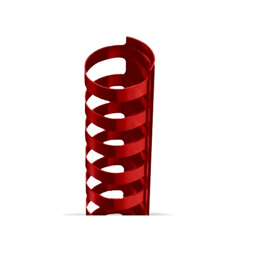 "3/8"" A4 Size Red Plastic Binding Combs 21 Rings - 100pk (TC380A4RD) Image 1"