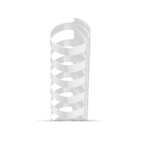 "3/8"" A4 Size White Plastic Binding Combs 21 Rings - 100pk (TC380A4WH) Image 1"