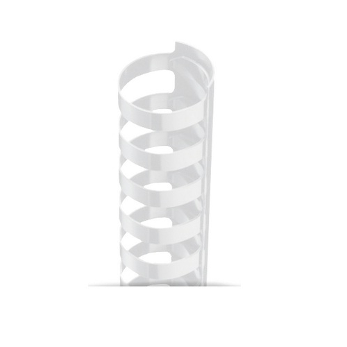 "7/16"" A4 Size White Plastic Binding Combs 21 Rings - 100pk (TC716A4WH) Image 1"