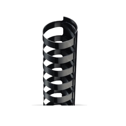 "1/4"" Black Plastic 24 Ring Legal Binding Combs - 100pk (TC140LEGAL) - $14.69 Image 1"