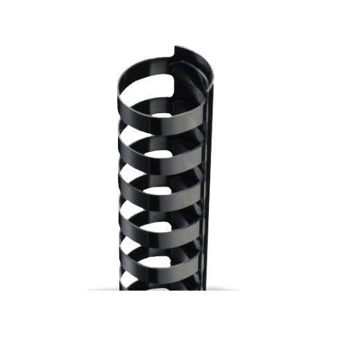"9/16"" A4 Size Black Plastic Binding Combs 21 Rings - 100pk (TC916A4), Binding Supplies Image 1"