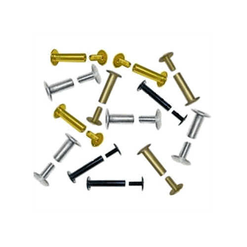 "1/4"" Antique Brass Colored Aluminum Screw Post Extensions - 100pk (SO14ABEXT) Image 1"