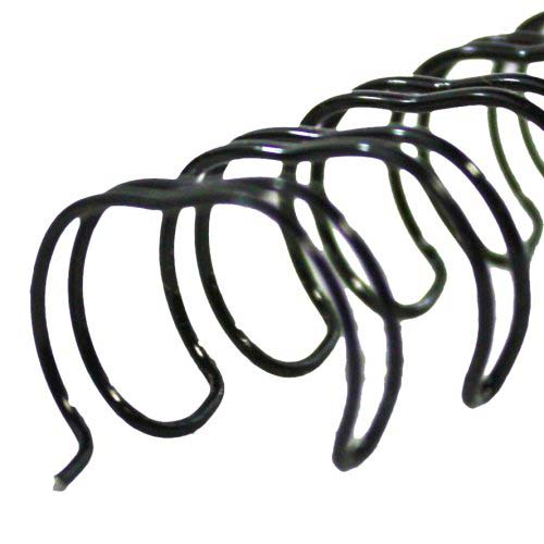 Black 1 4 2 1 pitch twin loop wire 100pk ebay for Loop binden