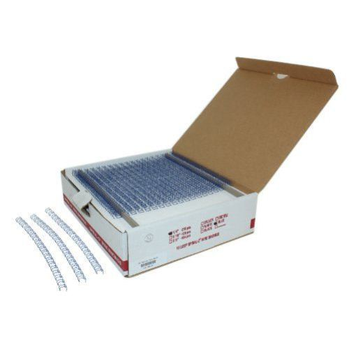 "1/4"" Blue Spiral-O 19 Loop Wire Binding Combs - 100pk (12N014BLUE) - $30.39 Image 1"