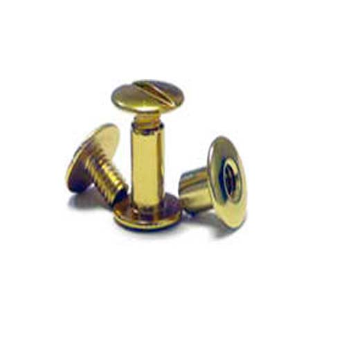 "1/4"" Gold Colored Aluminum Screw Posts - 100pk (SO14GDSP) Image 1"