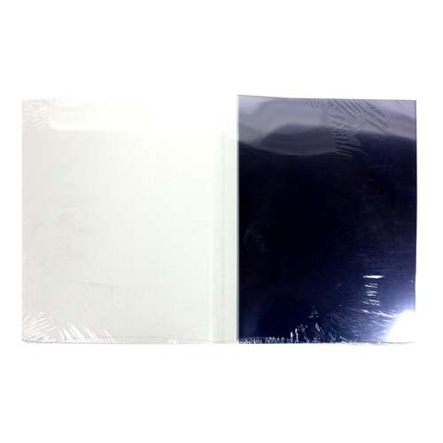 "1/4"" White Grain ThermaBind Covers (25pk) (2513531-X) Image 1"