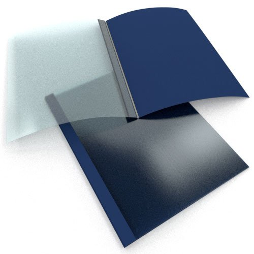 "1/4"" Navy Linen Thermal Binding Utility Covers - 80pk (BI140NV) Image 1"