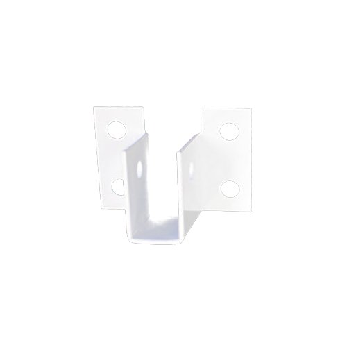"Sooper 1/4"" White Aluminum ""U"" Bracket for Mounting Solid Substrate - 100pk (MYBUBA4025B)"