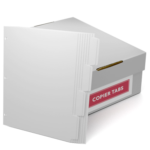 Double Reverse 1/4th Cut 110lb Plain Paper Copier Tabs 3 Hole (B1104DR3HP) - $161.19 Image 1