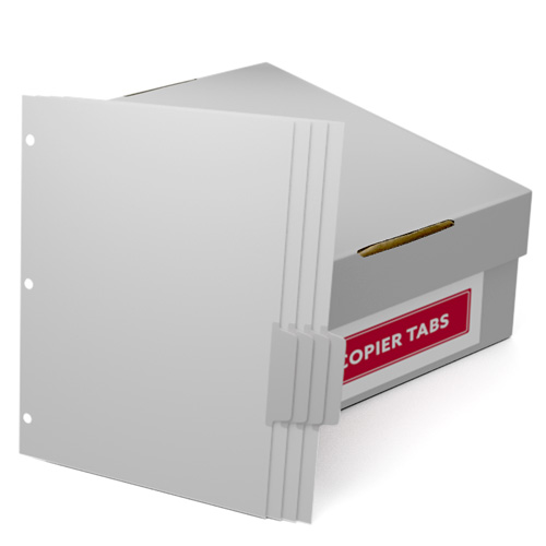 Uncollated 1/4th Cut 110lb Mylar Coated Copier Tabs 3 Holes - Pos 3 (XT1104POS33HP) Image 1