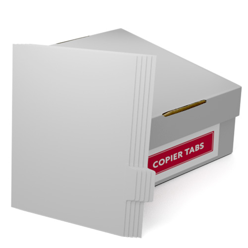 Uncollated 1/5th Cut 90lb Plain Paper Copier Tabs - Pos 4 (B905POS4) - $85.09 Image 1