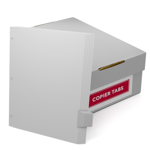 Uncollated 1/7th Cut 90lb Mylar Coated Copier Tabs 3 Holes - Pos 6 (XT7POS63HP), Index Tabs Image 1
