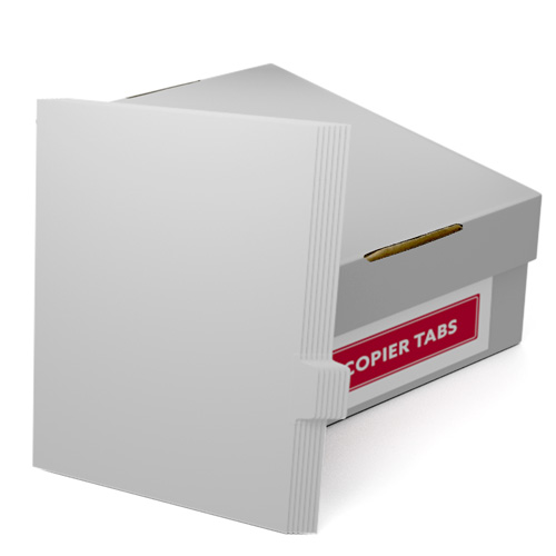 Uncollated 1/7th Cut 90lb Plain Paper Copier Tabs - Pos 5 (B907POS5), MyBinding brand Image 1
