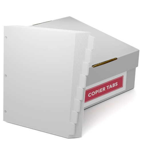 Double Reverse 1/8th Cut 110lb Plain Paper Copier Tabs 3 Hole (B1108DR3HP) - $161.19 Image 1