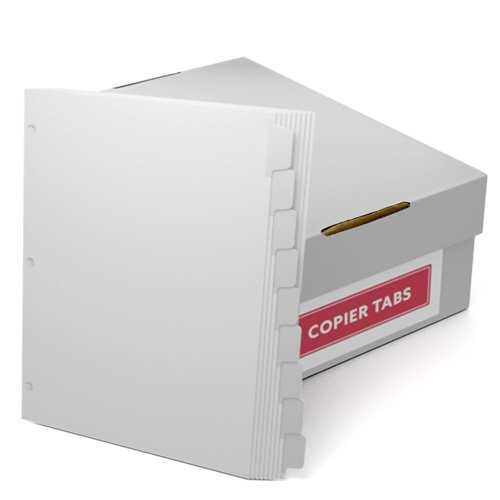 Straight Collated 1/9th Cut 90lb Mylar Coated Copier Tabs with 3 Holes (XT9RC3HP) Image 1
