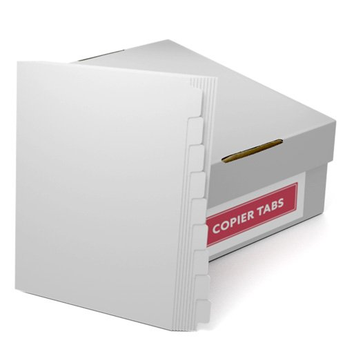 Straight Collated 1/9th Cut 110lb Plain Paper Copier Tabs (B1109RC) - $160.09 Image 1