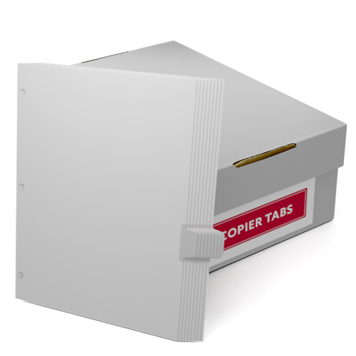 Uncollated 1/9th Cut 110lb Mylar Coated Copier Tabs 3 Holes - Pos 6 (XT1109POS63HP) Image 1
