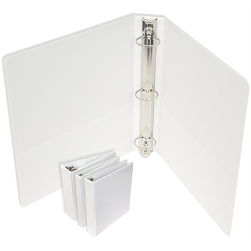 "1"" Standard White Round Ring Clear View Binders - 12pk (SRRCV100WH) Image 1"