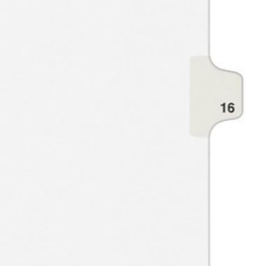 Avery 16 Individual Number Legal Index Style Dividers 25pk (AVE-01016) Image 1