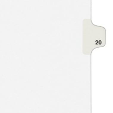 Avery 24 Individual Number Legal Index Style Dividers 25pk (AVE-01024) Image 1